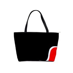 Simple Red And Black Desgin Shoulder Handbags by Valentinaart