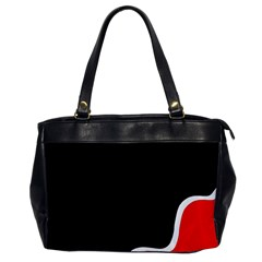 Simple Red And Black Desgin Office Handbags by Valentinaart