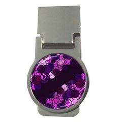 Purple Bubbles Money Clips (round)  by Valentinaart