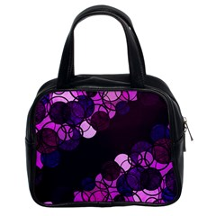 Purple Bubbles Classic Handbags (2 Sides) by Valentinaart