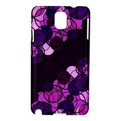 Purple Bubbles Samsung Galaxy Note 3 N9005 Hardshell Case by Valentinaart