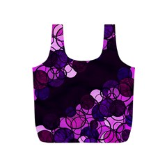 Purple Bubbles Full Print Recycle Bags (s)  by Valentinaart