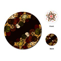 Autumn Bubbles Playing Cards (round)  by Valentinaart