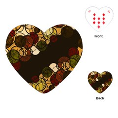 Autumn Bubbles Playing Cards (heart)  by Valentinaart