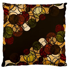 Autumn Bubbles Large Cushion Case (one Side) by Valentinaart