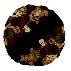 Autumn Bubbles Large 18  Premium Round Cushions by Valentinaart