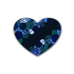 Blue Bubbles Heart Coaster (4 Pack)  by Valentinaart