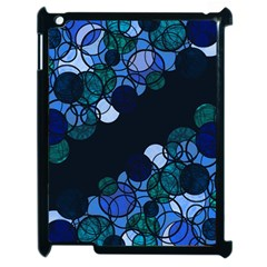 Blue Bubbles Apple Ipad 2 Case (black) by Valentinaart