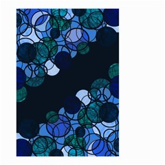 Blue Bubbles Small Garden Flag (two Sides)