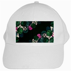 Green And Pink Bubbles White Cap by Valentinaart