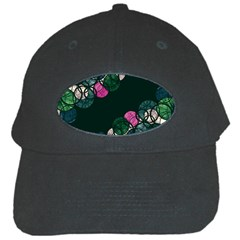 Green And Pink Bubbles Black Cap by Valentinaart