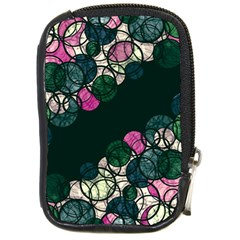 Green And Pink Bubbles Compact Camera Cases by Valentinaart