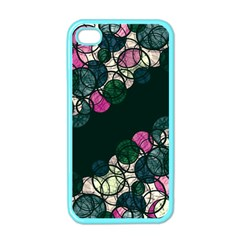 Green And Pink Bubbles Apple Iphone 4 Case (color) by Valentinaart