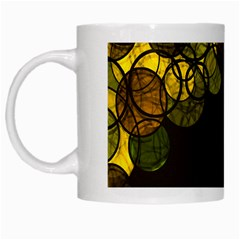 Yellow Bubbles White Mugs by Valentinaart