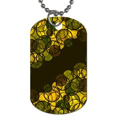 Yellow Bubbles Dog Tag (one Side) by Valentinaart
