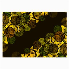 Yellow Bubbles Large Glasses Cloth (2 Side) by Valentinaart