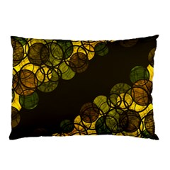 Yellow Bubbles Pillow Case by Valentinaart