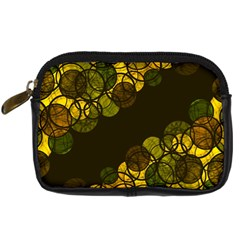 Yellow Bubbles Digital Camera Cases by Valentinaart