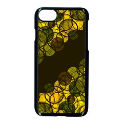 Yellow bubbles Apple iPhone 7 Seamless Case (Black)