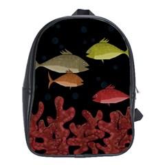 Corals School Bags (xl)  by Valentinaart