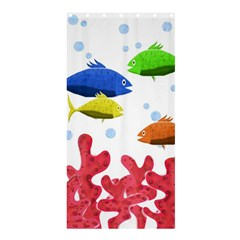 Corals And Fish Shower Curtain 36  X 72  (stall)  by Valentinaart