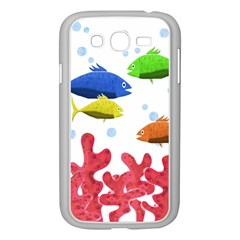 Corals And Fish Samsung Galaxy Grand Duos I9082 Case (white) by Valentinaart