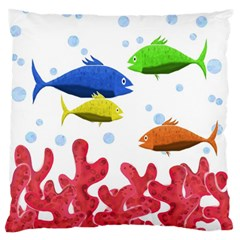 Corals And Fish Standard Flano Cushion Case (one Side) by Valentinaart