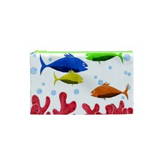Corals And Fish Cosmetic Bag (xs) by Valentinaart