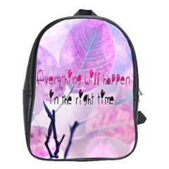 Magic Leaves School Bags (xl)  by Brittlevirginclothing