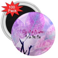 Magic Leaves 3  Magnets (100 Pack) by Brittlevirginclothing