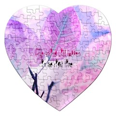 Magic Leaves Jigsaw Puzzle (heart) by Brittlevirginclothing