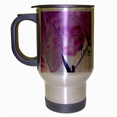 Magic Leaves Travel Mug (silver Gray) by Brittlevirginclothing