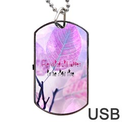 Magic Leaves Dog Tag Usb Flash (one Side) by Brittlevirginclothing