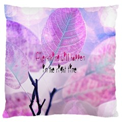 Magic Leaves Large Flano Cushion Case (two Sides) by Brittlevirginclothing