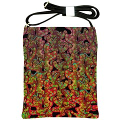 Red Corals Shoulder Sling Bags by Valentinaart