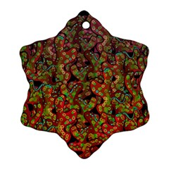 Red Corals Snowflake Ornament (2 Side) by Valentinaart