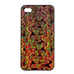 Red Corals Apple Iphone 4/4s Seamless Case (black) by Valentinaart