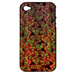 Red Corals Apple Iphone 4/4s Hardshell Case (pc+silicone) by Valentinaart