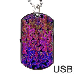 Purple Corals Dog Tag Usb Flash (two Sides)  by Valentinaart