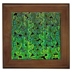 Green Corals Framed Tiles by Valentinaart