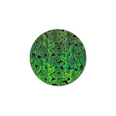 Green Corals Golf Ball Marker (4 Pack) by Valentinaart