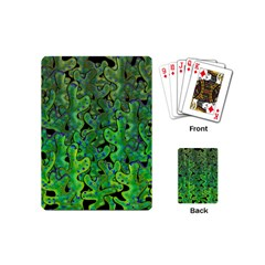 Green Corals Playing Cards (mini)  by Valentinaart
