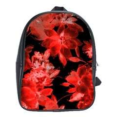 Red Flower  School Bags (xl)  by Brittlevirginclothing