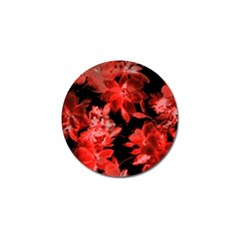 Red Flower  Golf Ball Marker (4 Pack) by Brittlevirginclothing