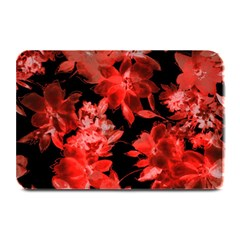Red Flower  Plate Mats by Brittlevirginclothing