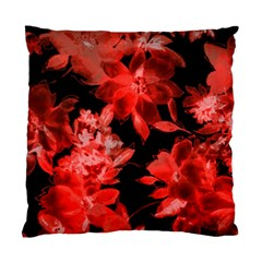 Red Flower  Standard Cushion Case (two Sides) by Brittlevirginclothing