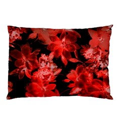Red Flower  Pillow Case (two Sides) by Brittlevirginclothing