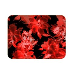 Red Flower  Double Sided Flano Blanket (mini)  by Brittlevirginclothing
