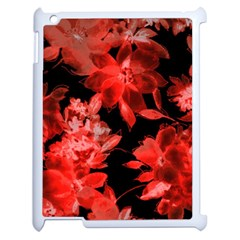 Red Flower  Apple Ipad 2 Case (white) by Brittlevirginclothing