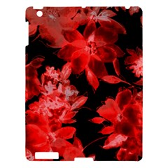 Red Flower  Apple Ipad 3/4 Hardshell Case by Brittlevirginclothing
